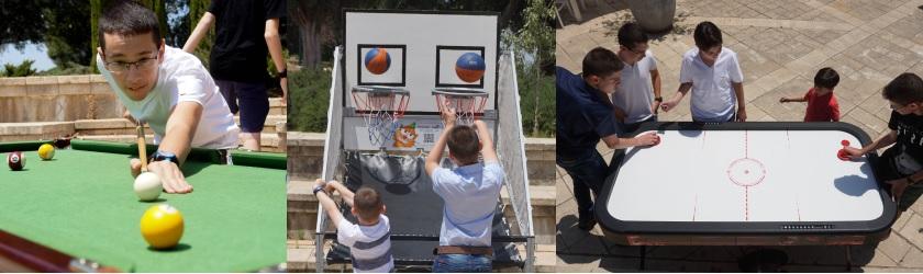 שולחנות משחק בבר מצווה